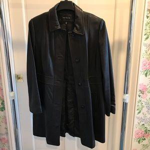 Jones New York Leather Trench Coat